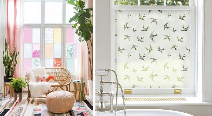 Manualidades faciles para decorar los vidrios de las ventanas