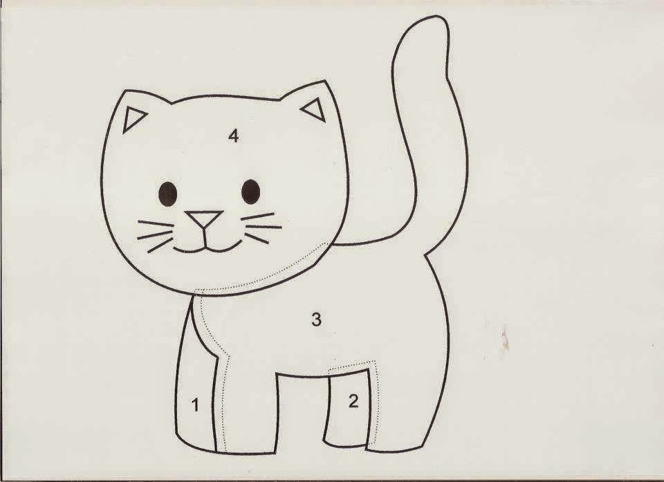 Plantilla gato aplique patchwork bebe