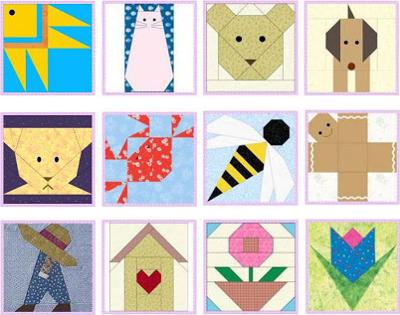 Aplicaciones patchwork bebes
