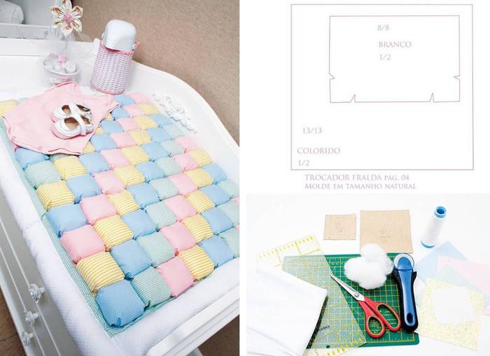 Patchwork para bebés: Edredones, cambiadores y patchwork biscuit ...