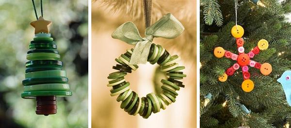 Manualidades con botones para el arbol de navidad