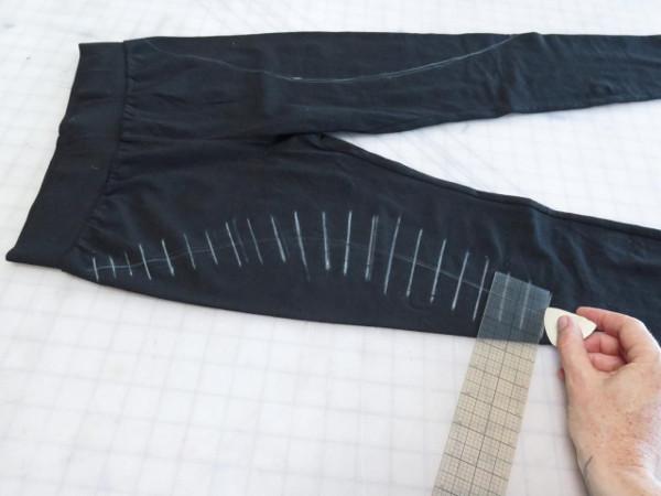 Marca los leggings para cortar