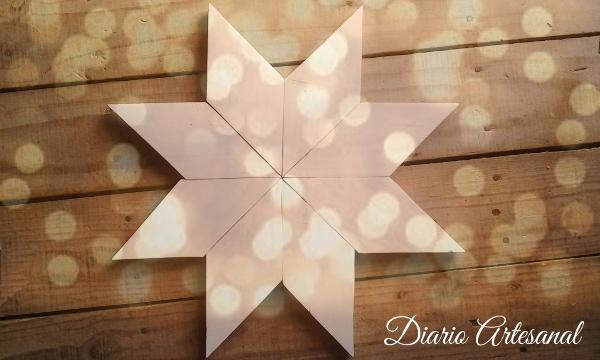 Estrella de navidad para una decoración con palets