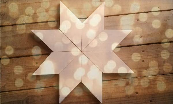 Estrella de navidad decoración con palets