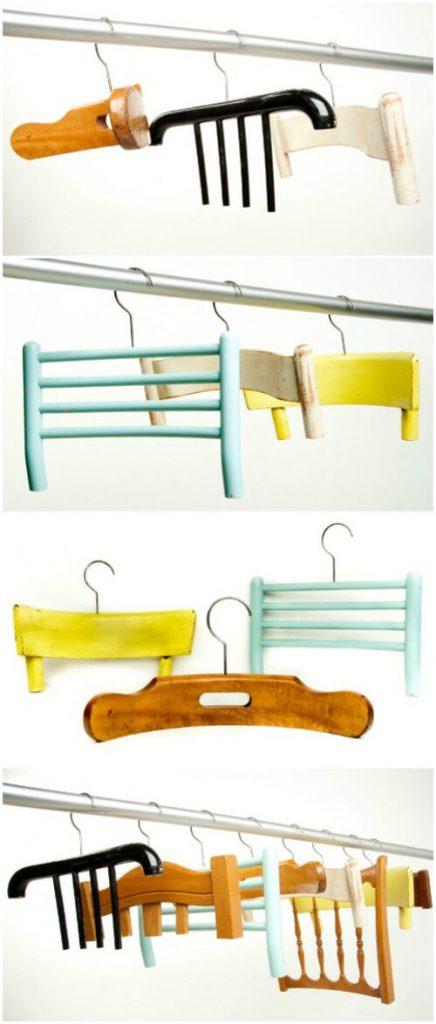Reciclar una silla y hacer perchas
