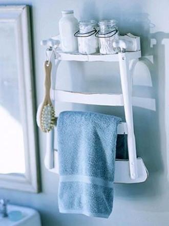 Reciclar una silla y hacer un organizador para el baño