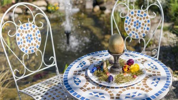 Decorar el jardin con mosaico