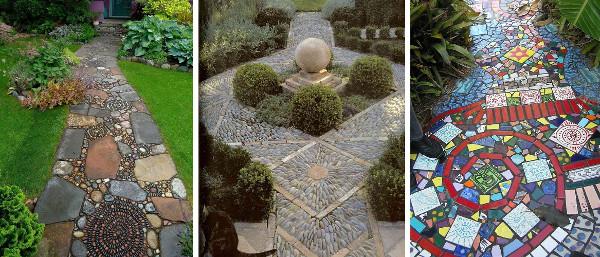 Pavimentos de jardin con mosaico