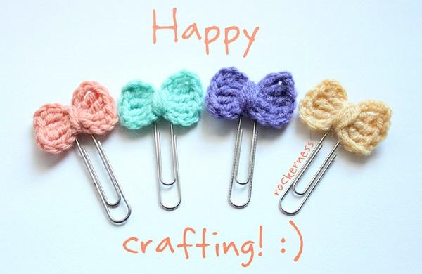 Clips decorados con lana