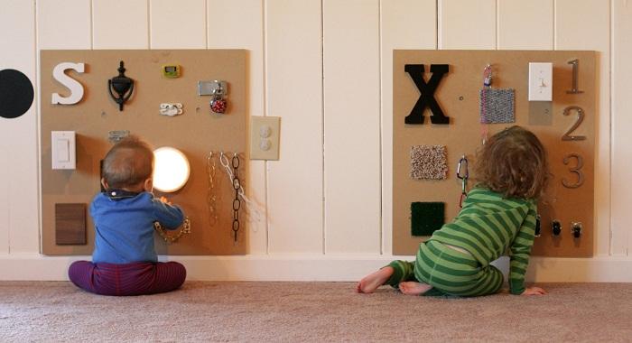 Paneles sensoriales para estimulacion bebes