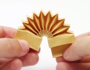 Acordeón de origami