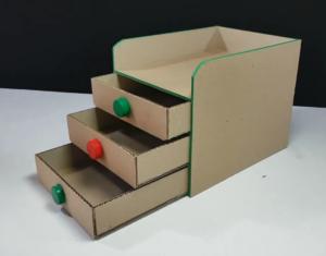 organizadores o gavetas con caja de cartón