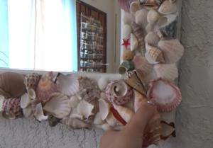 espejo con Decoración de mar