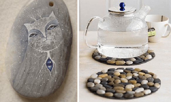 Creatividad con piedras