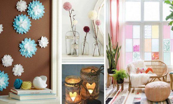 60 manualidades faciles para decorar la casa