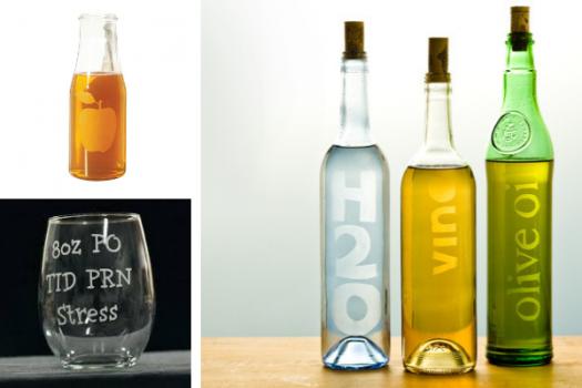Stencil sobre botellas