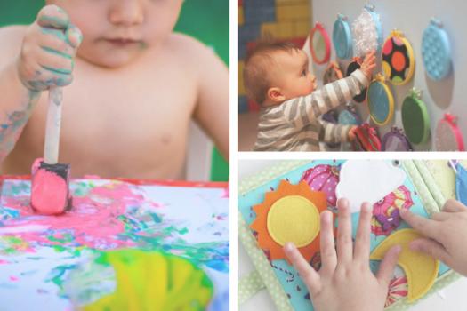 Actividades de estimulacion temprana para bebes DIY